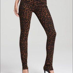 Joe's Jeans leopard Chelsea the skinny sz 27